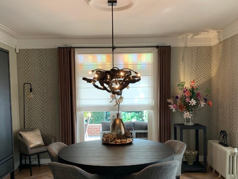 Hanglamp ronde tafel staal - TERBORG